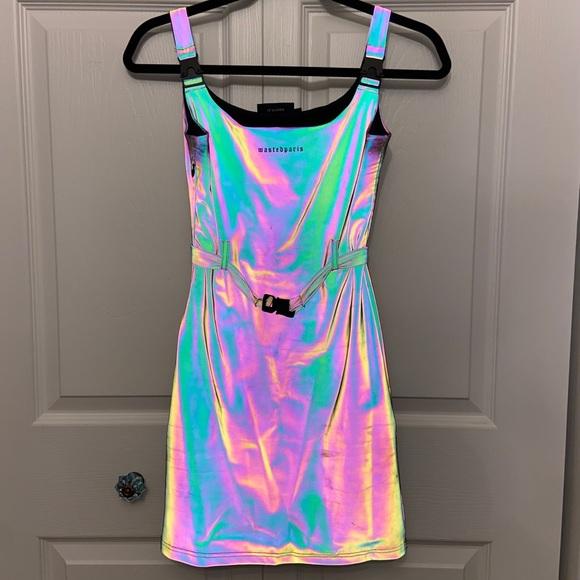 Unique Holographic Dress with Clip Details